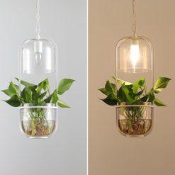 Water Plants Glazen Hanglamp Pastoraal ecologische hanglamp