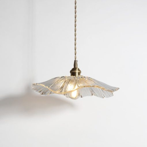 Retro Lotus Creative Glass Pendant Lamp